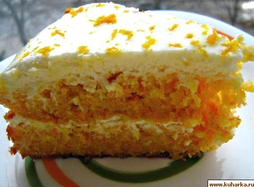Рецепт морковного торта со сметанным кремом