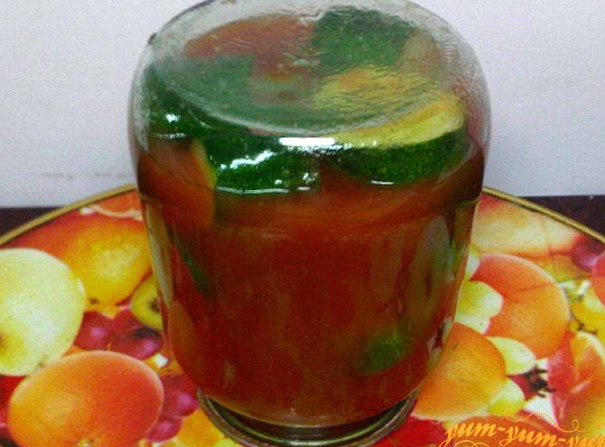 Рецепт на зиму огурцы в томатном соке на зиму