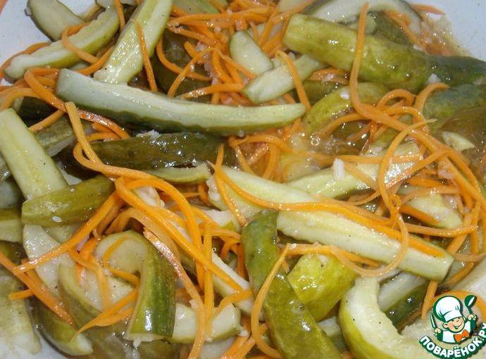 Рецепт огурцы с морковью по-корейски