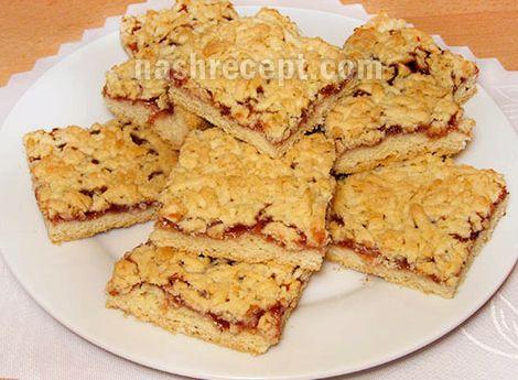 Рецепт пирог из песочного теста с вареньем