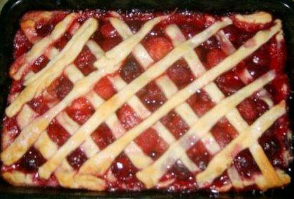 Рецепт пирог с клубникой слоеное тесто