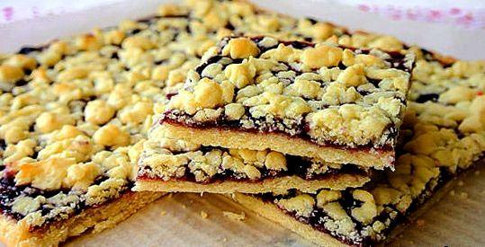 Рецепт пирог с песочного теста с вареньем