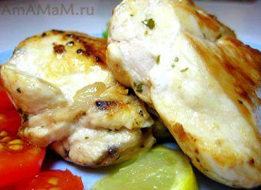 Рецепт приготовления грудки куриной на сковороде