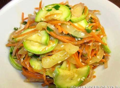 Рецепт приготовления кабачков по корейски
