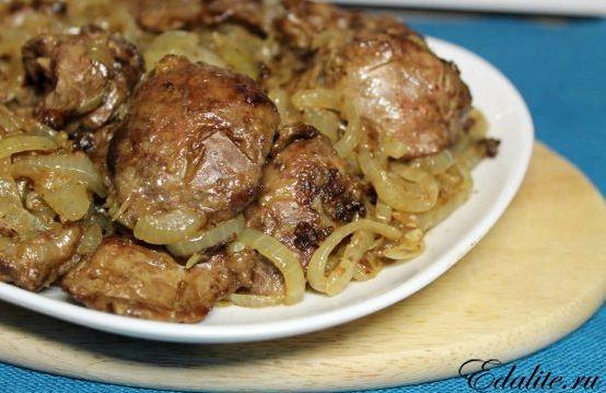 Рецепт приготовления куриной печенки