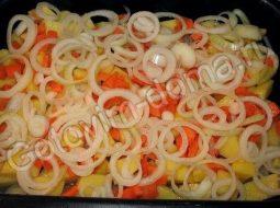 Рецепт рыбы запечённой с овощами в духовке