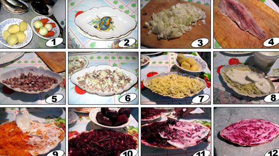 Рецепт с фото пошаговый сельдь под шубой