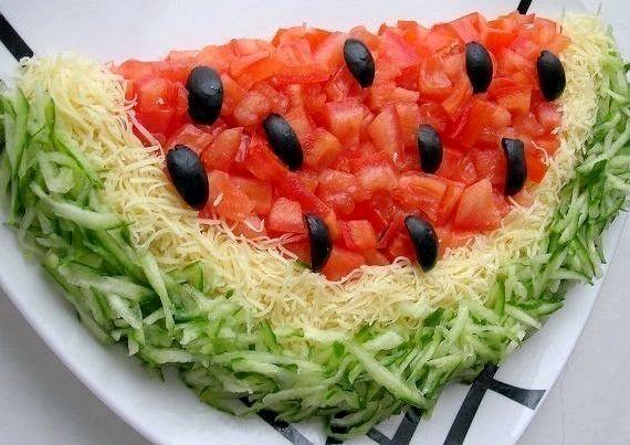 Рецепт салата арбузная долька пошаговый рецепт