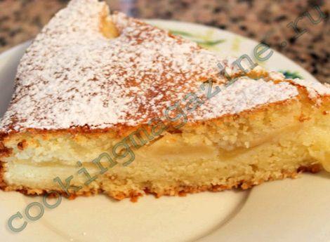 Рецепт шарлотки с творогом и яблоками