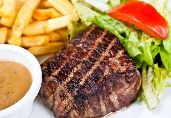 Рецепт стейк из говядины на сковороде-гриль