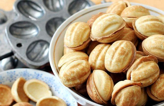 Рецепт теста на орешки с вареной сгущенкой
