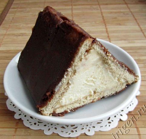 Рецепт торта без выпечки из творога и печенья без выпечки