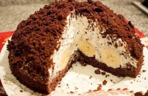 Рецепт торта норка крота с бананами с фото