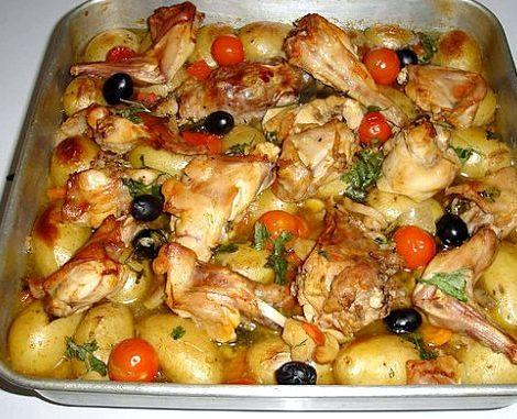 Рецепт тушеного кролика с картошкой в духовке
