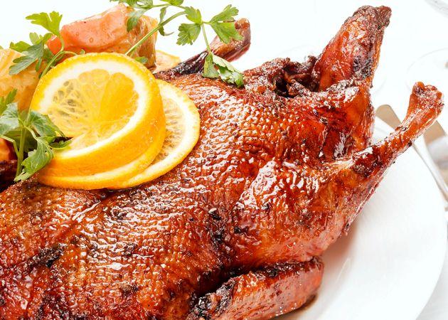 Рецепт утка с яблоками запеченной в духовке