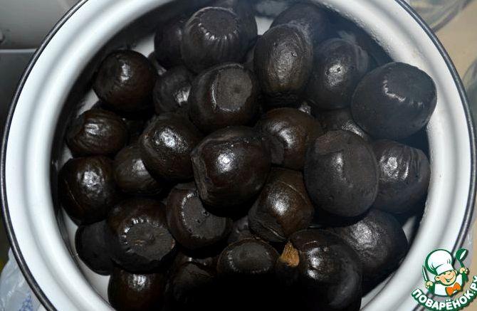 Рецепт варенья из грецких орехов с кожурой