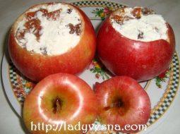 Рецепт запеченное яблоко в микроволновке