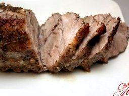 Рецепт запеченной говядины в духовке