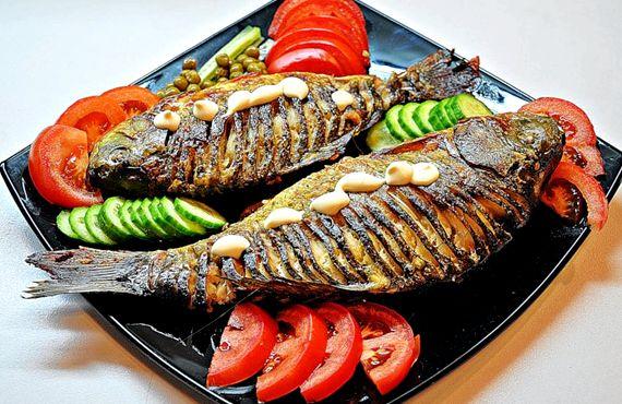 Рецепт запеченной рыбы в духовке с овощами