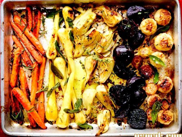 Рецепт запеченных овощей в духовке с фото