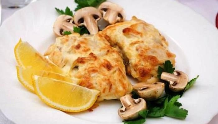 Свинина под шубой с грибами в духовке рецепт с фото