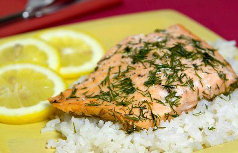 Рыба в фольге в духовке с рисом рецепт с фото