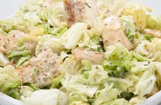 Салат цезарь с курицей с пекинской капустой рецепт с фото