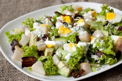 Салат из трески вареной с картофелем и луком рецепт с фото