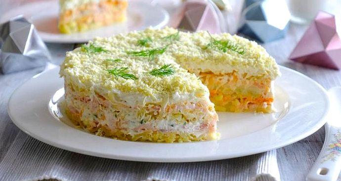 Салат мимоза рецепт классический с горбушей