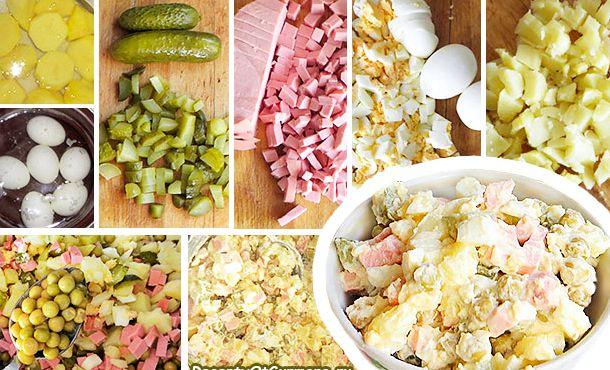 Салат оливье классический с колбасой рецепт с фото