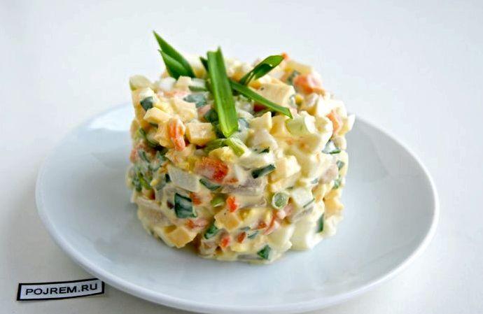 Салат с кальмаров рецепт пошагово с фото