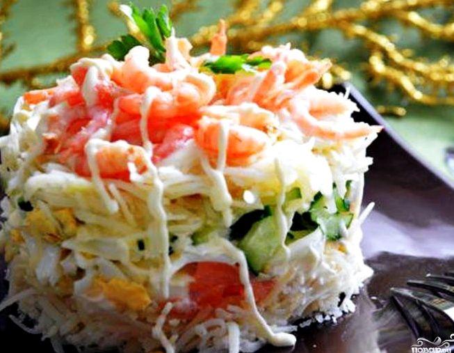 Салат с красной рыбой рецепт с фото слоями