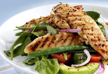 Салат с курицей и авокадо рецепт с фото