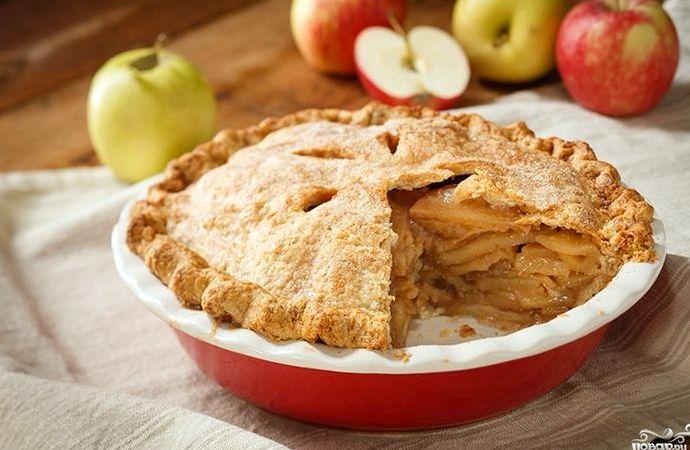 Шарлотка с корицей и яблоками рецепт с фото пошагово в духовке