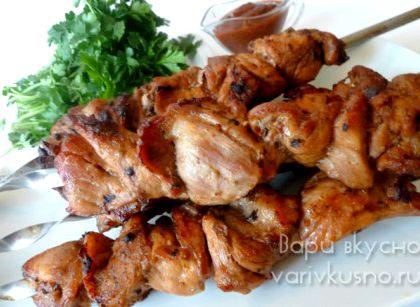 Шашлык из свинины с минеральной водой рецепт