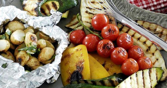 Шашлык с овощами на мангале рецепт с фото