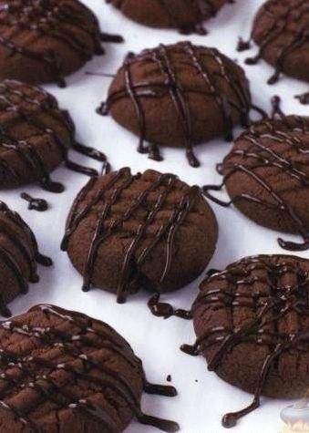 Шоколадное песочное печенье рецепт с фото