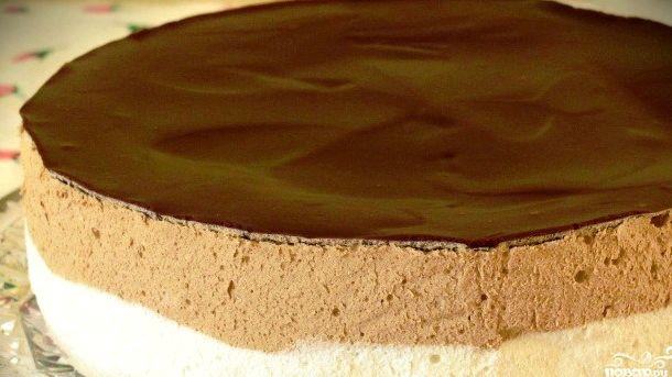 Шоколадное суфле для торта рецепт с фото