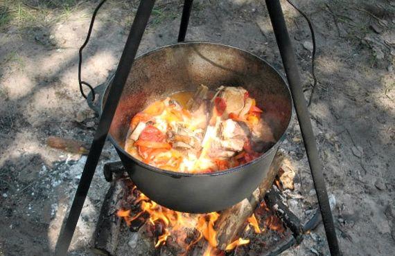 Шулюм из свинины на костре рецепт с фото