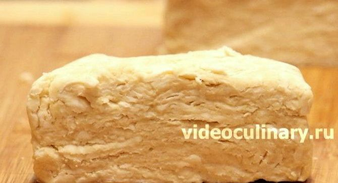Слоеное тесто масло через терку рецепт видео бабушка