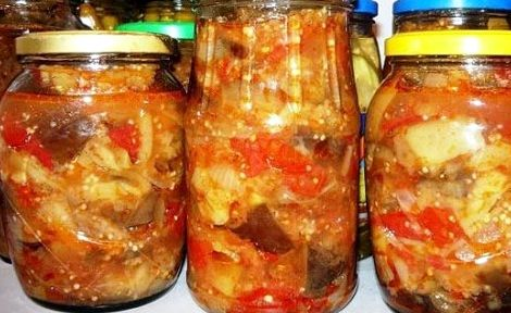 Соте на зиму из баклажанов и кабачков рецепт с фото