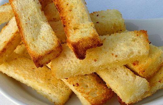Сухарики в духовке из белого хлеба рецепт