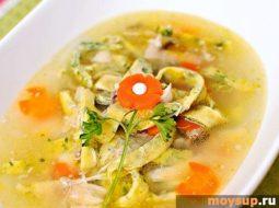Суп гороховый рецепт на курином бульоне