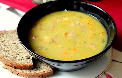 Суп гороховый с копчеными крылышками пошаговый рецепт с фото