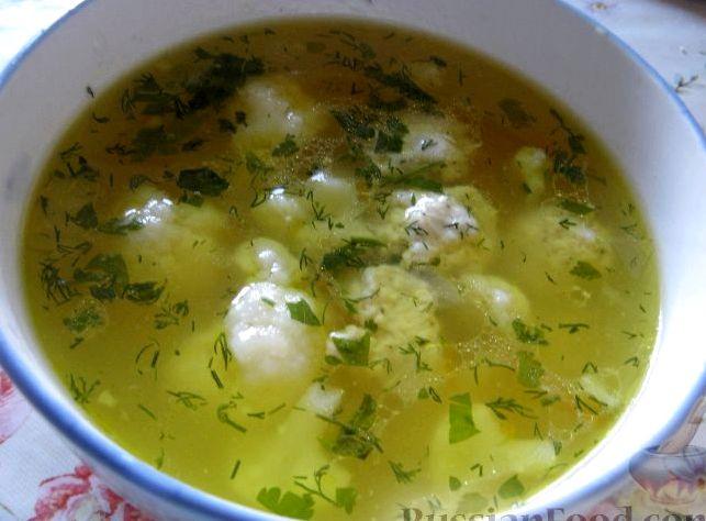 Суп с фрикадельками и с капустой рецепт
