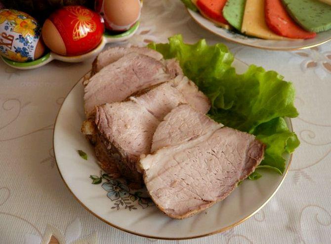 Свиная грудинка варёная в пакете рецепт