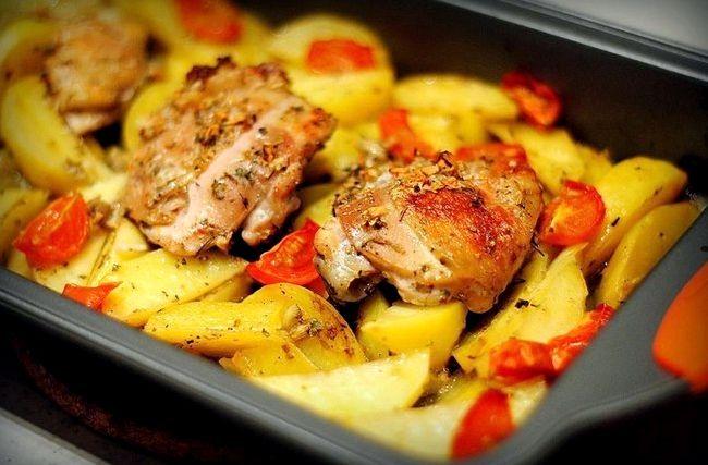 Свинина с картофелем запеченная в духовке рецепт с фото