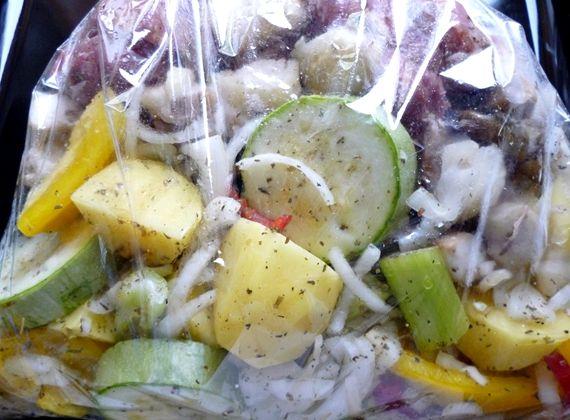 Свинина с овощами в рукаве в духовке рецепт с фото