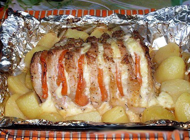 Свинина в фольге в духовке рецепт с фото с картошкой