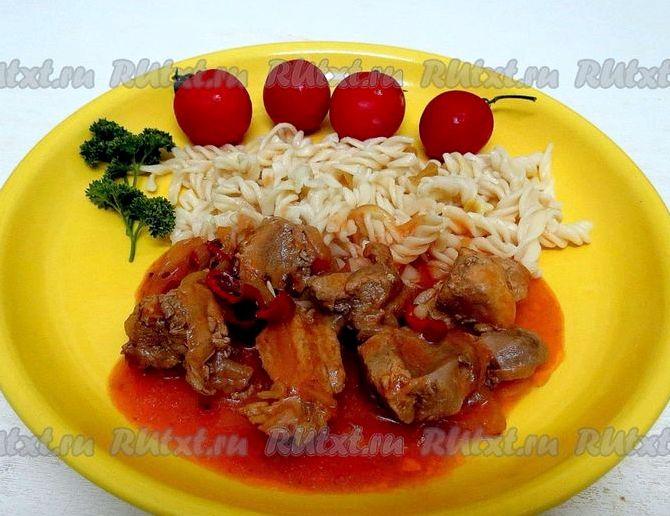Свинина в томатном соусе на сковороде рецепт с фото